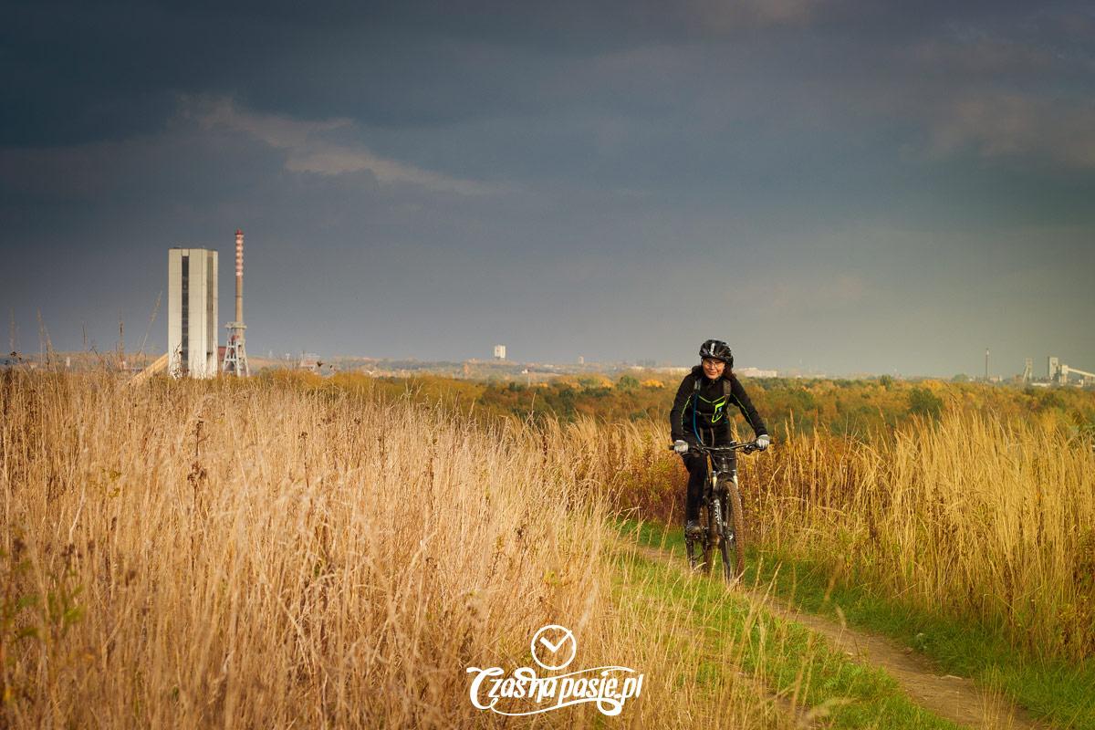Hałda Makoszowy rowerem