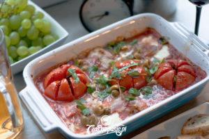 Zapiekana mozzarella z pomidorami